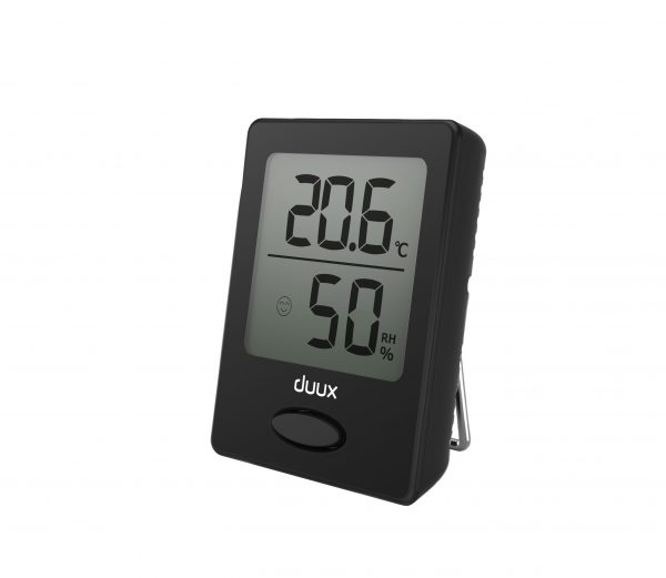 Duux Sense thermometer + hygrometer Klimaat accessoire Zwart