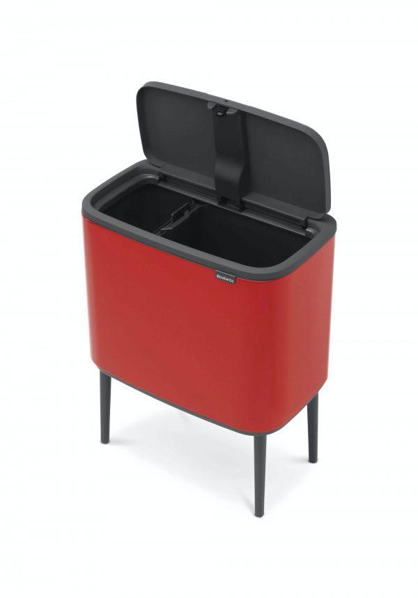 Brabantia Touch bin Bo 11+23 liter Passion Red