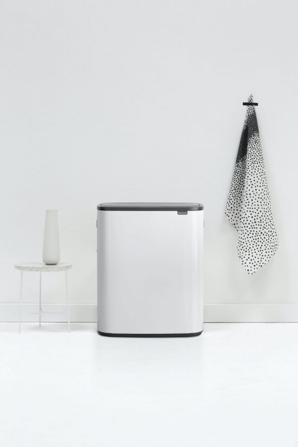 Brabantia Bo Touch bin 2x30 liter White