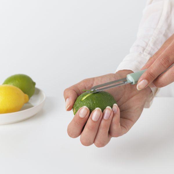Brabantia Tasty+ dunschiller plus zesteur jade green