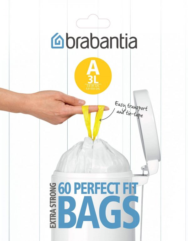 Brabantia afvalzak A 3 liter 60 stuks